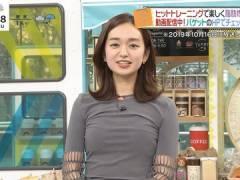 日テレ後藤晴菜アナ、胸はパツパツで背中はスケスケ。