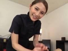 花咲いあん メンズ性感サロンの風俗嬢がマン汁手コキで男を潮吹きさせる主観動画