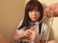 【JK ロリ動画】円光してた女子校生がおじさんちんぽの虜になって首輪をつけられ性奴隷になって痙攣絶頂