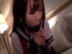 【動画】女子校生拉致してホテルで調教!拘束して強制フェラにオナニー強要とやりたい放題!