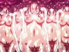 【異種姦】触手肉壺の中で生きながら搾取される女の子たち!