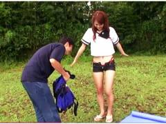 【青姦】桐原エリカ。これはやばいセーラー服のデカパイお姉さん!