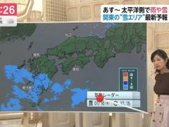 フジお天気キャスター酒井千佳さんの横乳がスゴイことになってる。