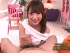 桃乃木かな めちゃ可愛い美女がローション手コキでオナニーサポートする主観動画