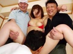 保坂えり 旦那が町内の住人を怪我させてしまいその美人で巨乳な妻が乱交セックスでレイプされる!