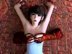 【3Dエロアニメ】レオタード姿の美少女がグロテスクなバケモノに滅茶苦茶犯される!!