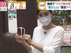 フジ小澤陽子アナ、背中にブラ線が浮いてしまう。