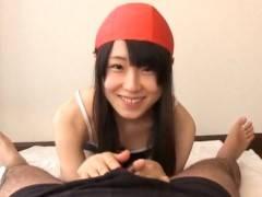 【主観】スクール水着&水泳帽をかぶった童顔すぎる女の子がフェラチオご奉仕