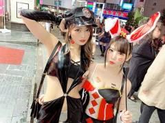 七瀬ひな 愛須心亜 ハロウィンハメ撮りセックス画像