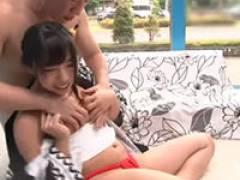 【エロ動画】可愛い女の子がハッピ着てふんどし姿でエッチ!