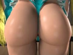 【3Dエロアニメ】ストリートファイターのミカのムチムチなデカ尻で尻コキした後に立ちバックで中出しセックス