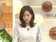 TBS田村真子アナのパツパツな胸元たまらん。