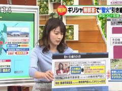 TBS宇内梨沙アナの横乳がエッチすぎる。