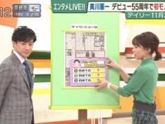 ヒロド歩美アナの透け透けブラジャーのラインがくっきりキャプ!ABC朝日放送女子アナ