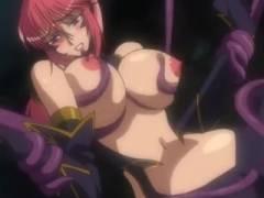 【エロアニメ】『全身オマ○コになってイっちゃうぅぅぅ』触手な化け物に変身して爆乳処女魔女っ娘と初体験SEX♪