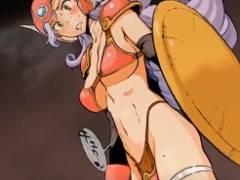 「子宮が疼くぅぅ」ドラクエ女戦士と女賢者がモンスターに捕まり入り切らないほどの巨チン絶頂孕ませ