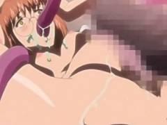 【エロアニメ】 好きな男とのラブラブセックスしている夢を見ながら触手に犯されボテ腹種付け中出しされるメガネっ娘