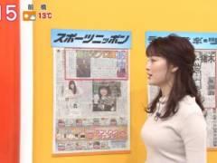 新井恵理那がピチピチニットでムチムチの美乳そうなエロおっぱいの形が浮き彫りキャプ!フリーアナウンサー
