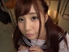 放課後の教室で女子校生の長谷川るいちゃんとイチャイチャ