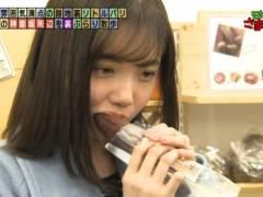 田中瞳アナのリアルなエロい疑似フェラチオ食べ顔キャプ!
