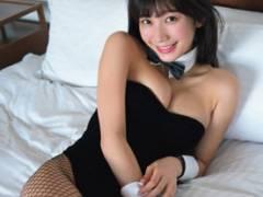 小倉優香(19)がハミ乳全開のバニーガール姿を公開www