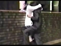 【青姦+女子高生+盗撮】これは危険な赤外線盗撮!学校帰りの高校生バカップルが挿入してしまいます。