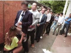 【藤本紫媛】路上ピンサロ!ドスケベな黒ギャルが100円でフェラチオ!