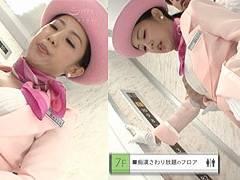 エレベーターガールの鈴木さとみさん淫語と巨乳でおもてなし!