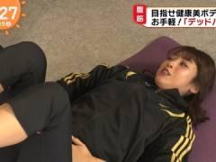 岡副麻希さん、スタッフにはパンモロしてるはずな筋トレ。