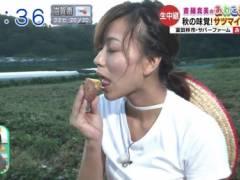 斎藤真美アナのエロい擬似フェラチオ食べ顔キャプ!ABC朝日放送女子アナ