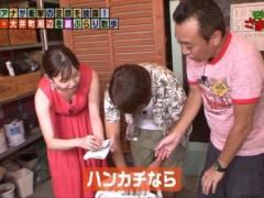 田中瞳アナがモヤさまで前屈み胸チラしておっぱいの谷間がモロ見えハプニングキャプ!テレビ東京女子アナ