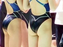 【競泳水着エロ画】女子水泳部員の発育した尻がたまらないw ほか