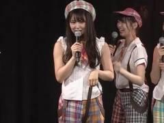 劇場公演でNMB48白間美瑠が疼いたワレメを刺激