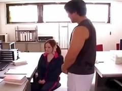 母乳が出て悩んでる巨乳女教師が男性教員に言葉巧みに犯される!