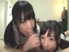 【浅田結梨 栄川乃亜】お兄ちゃん大好きJK姉妹が奪い合うようにチンポをしゃぶってラブラブ近親セックス!