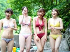 水野朝陽 関根奈美 人気女優と温泉BBQデート最後の告白に成功すればイチャラブSEX