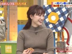 新井恵理那さん、ニットおっぱいがエロい。