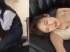 成宮つばささんが網タイツの秘書スタイルでヨダレフェラして中出し懇願!