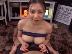 松本メイ 「勝手にイっちゃダメです…」爆乳痴女エステティシャンの上目遣いパイズリでイカされるM男主観動画