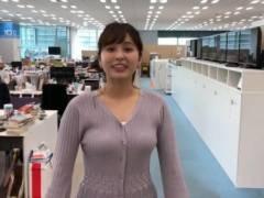 角谷暁子アナのはち切れそうなムチムチおっぱいの形が浮き彫りの着衣巨乳キャプ!テレビ東京女子アナ