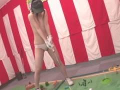 【素人参加企画】賞金100万に釣られた美少女がパターゴルフ野球拳に参加して悲惨なことに…