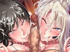 【監獄アカデミア】完全調教済みの女将校たちのWドスケベフェラで精液搾られる!!