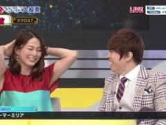 杉浦友紀アナがノースリーブで両腕上げて綺麗なエロいワキが丸見えキャプ!NHK女子アナ