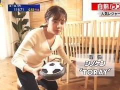 テレ東・田中瞳アナ、ユルめの胸元からティクビが見えそうになってしまう。
