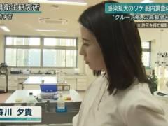 森川夕貴アナが白い薄手の服でブラジャー透け透けハプニングキャプ!テレビ朝日女子アナ