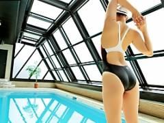 寺山綾子 水泳で鍛えた体と卑猥なむち巨乳のギャップボディで杭打ち騎乗位で巨根が下から突き上げ絶頂