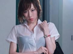 【七海ティナ】突然のゲリラ豪雨で会社に取り残されてしまったのはびしょ濡れの女上司と僕の2人だけ…!!