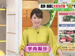 TBS宇内梨沙アナ、ワンピのおっぱいがエロすぎる。