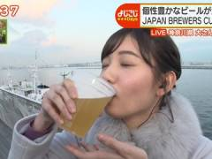 テレ東・田中瞳アナ、ビールフェスで飲みまくり顔が赤くなってしまう。
