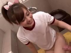 【綾見ひかる】体操服コスのソープ嬢にバックで中出し。マンコの締め付けが気持ち良くて2分でイっちゃった早漏チンポ